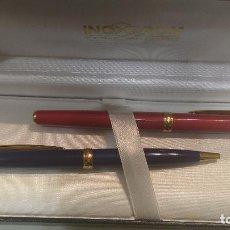 Estilográficas antiguas, bolígrafos y plumas: INOXCROM. Lote 187189067