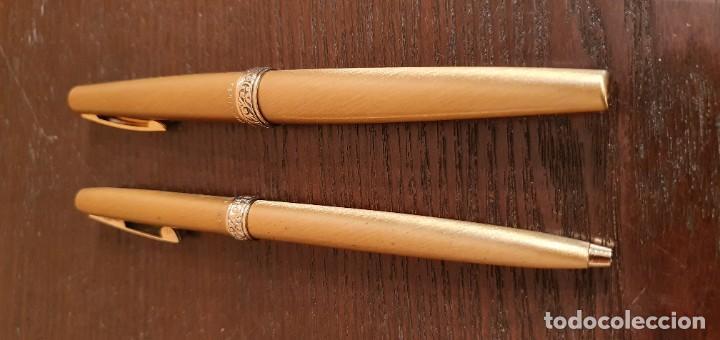 Estilográficas antiguas, bolígrafos y plumas: SHEAFFER IMPERIAL BOLIGRAFO Y PLUMA MADE IN USA CHAPADOS EN ORO - Foto 4 - 187229952
