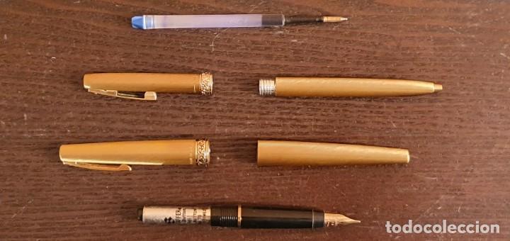 Estilográficas antiguas, bolígrafos y plumas: SHEAFFER IMPERIAL BOLIGRAFO Y PLUMA MADE IN USA CHAPADOS EN ORO - Foto 14 - 187229952
