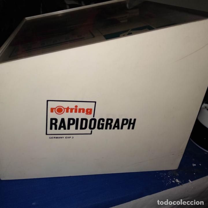 Estilográficas antiguas, bolígrafos y plumas: expositor rotring radiograph +variograh,2000,graphos, estuche,primus,etc ver fotos - Foto 5 - 188826356