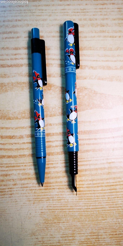Estilográficas antiguas, bolígrafos y plumas: Inoxcrom conjunto de bolígrafo y pluma con caja original - Foto 4 - 189519675