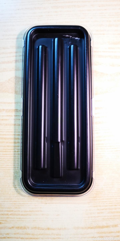 Estilográficas antiguas, bolígrafos y plumas: Inoxcrom conjunto de bolígrafo y pluma con caja original - Foto 5 - 189519675