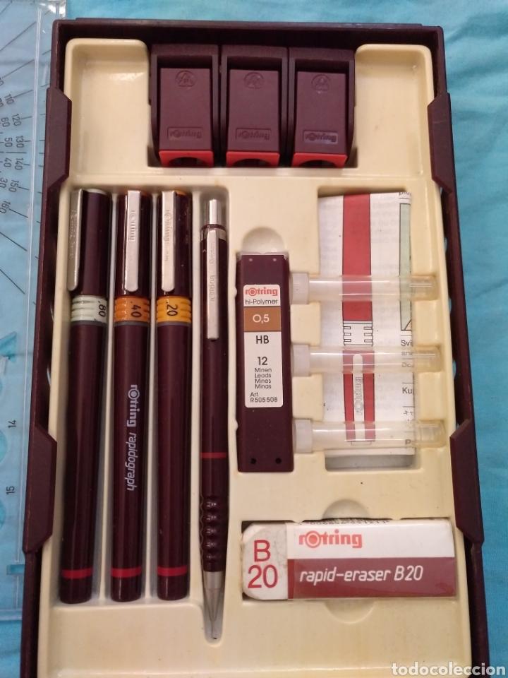 Estilográficas antiguas, bolígrafos y plumas: Rotring college set nuevo - Foto 2 - 190133361