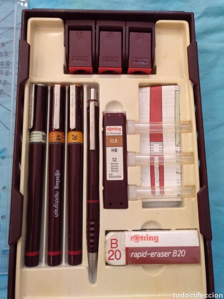 Estilográficas antiguas, bolígrafos y plumas: Rotring college set nuevo - Foto 3 - 190133361