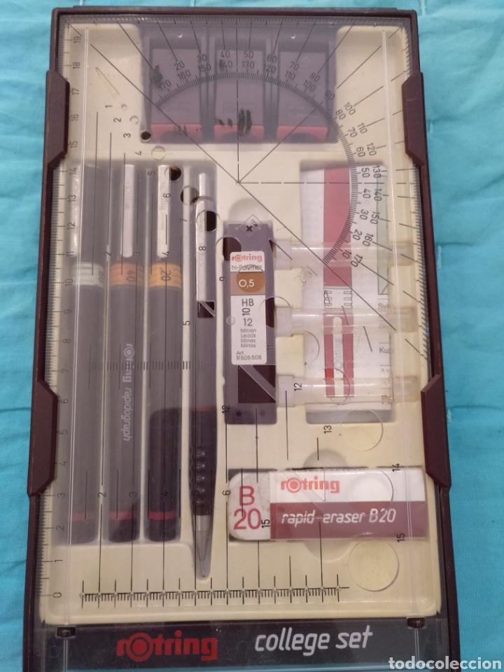Estilográficas antiguas, bolígrafos y plumas: Rotring college set nuevo - Foto 5 - 190133361