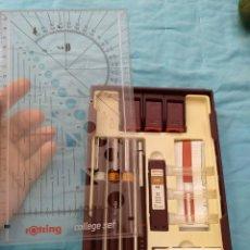 Estilográficas antiguas, bolígrafos y plumas: ROTRING COLLEGE SET NUEVO. Lote 190133361