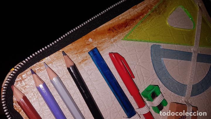 Estilográficas antiguas, bolígrafos y plumas: ESTUCHE ESCOLAR VINTAGE AÑOS 70 - Foto 4 - 50681113