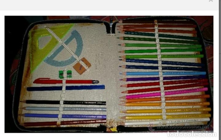 Estilográficas antiguas, bolígrafos y plumas: ESTUCHE ESCOLAR VINTAGE AÑOS 70 - Foto 5 - 50681113