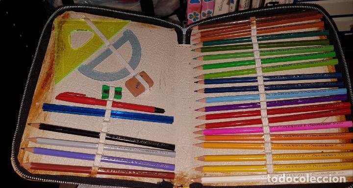 Estilográficas antiguas, bolígrafos y plumas: ESTUCHE ESCOLAR VINTAGE AÑOS 70 - Foto 6 - 50681113