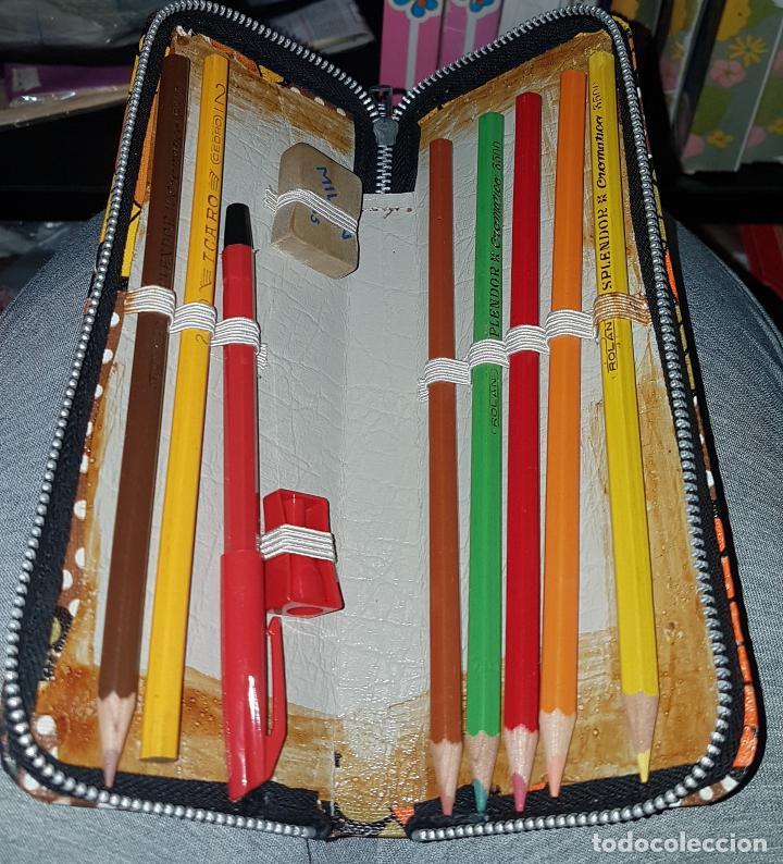 Estilográficas antiguas, bolígrafos y plumas: ESTUCHE ESCOLAR VINTAGE AÑOS 70 - Foto 2 - 50681179