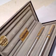 Estilográficas antiguas, bolígrafos y plumas: JUEGO DE PLUMA Y ESTILOGRAFICA SIROKO. Lote 194317402