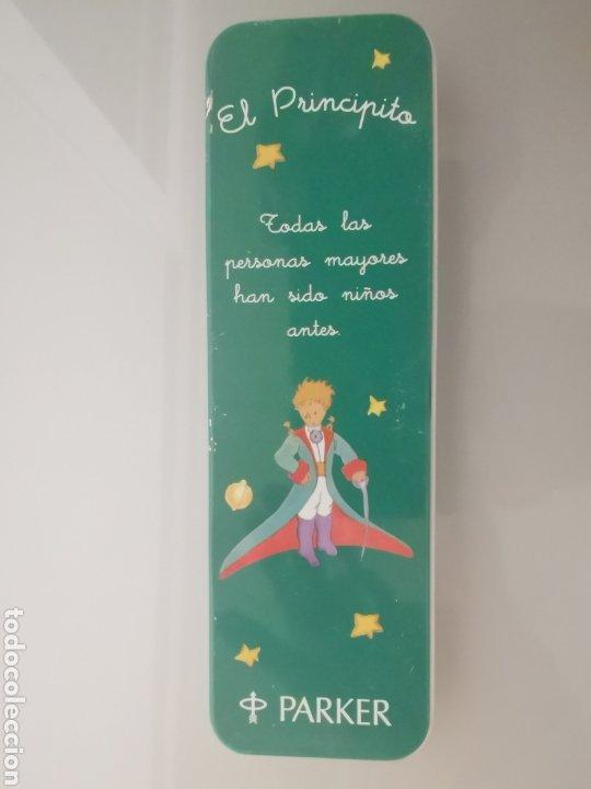 Estilográficas antiguas, bolígrafos y plumas: ESTUCHE PARKER VECTOR EDICIÓN ESPECIAL LE PETIT PRINCE ROLLER 1995 - Foto 2 - 206266077