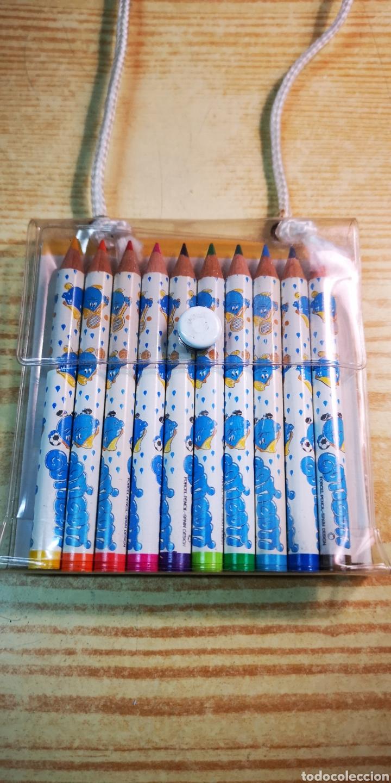 Estilográficas antiguas, bolígrafos y plumas: Gotigoti estuche de 10 lapices de colores a estrenar - Foto 2 - 194629948