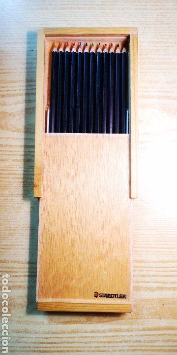 Estilográficas antiguas, bolígrafos y plumas: Staedtler 12 lapices de colores a estrenar - Foto 2 - 194722048