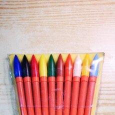 Estilográficas antiguas, bolígrafos y plumas: ROTULADORES PINCEL RIGONI PINSULANER 10 ROTULADORES GRUESOS. Lote 195222856