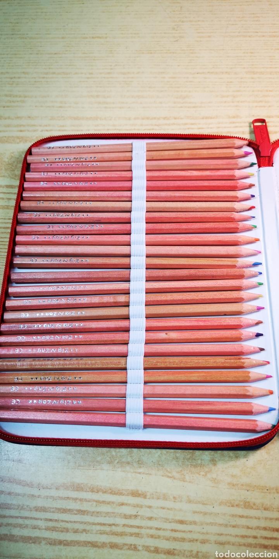 Estilográficas antiguas, bolígrafos y plumas: Estuche plumier Perona a estrenar con 24 lapices de colores + complementos - Foto 4 - 195223608
