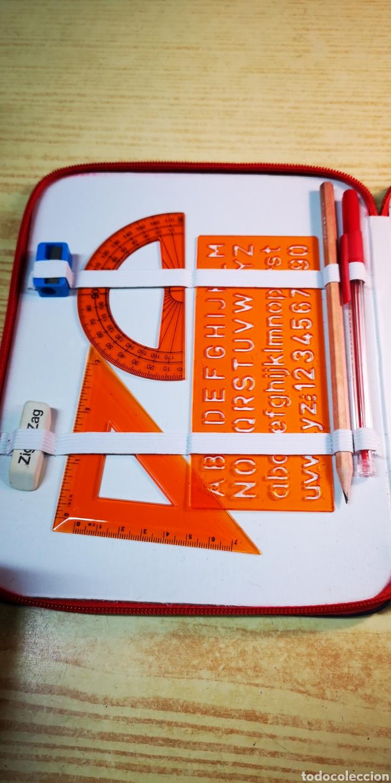 Estilográficas antiguas, bolígrafos y plumas: Estuche plumier Perona a estrenar con 24 lapices de colores + complementos - Foto 6 - 195223608