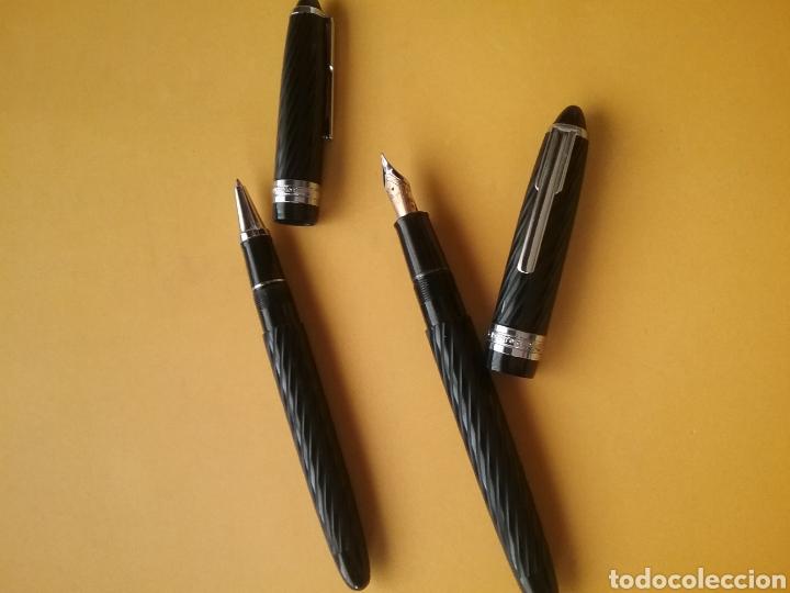 Estilográficas antiguas, bolígrafos y plumas: Pareja de bolígrafo y pluma Modéle Recife Deposé France. - Foto 3 - 195364560
