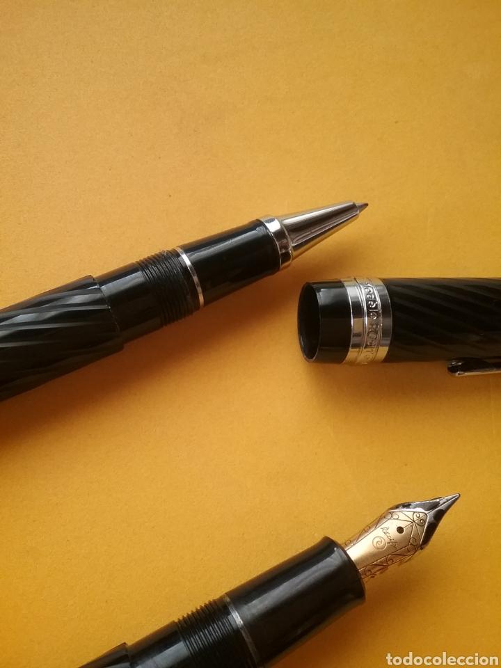 Estilográficas antiguas, bolígrafos y plumas: Pareja de bolígrafo y pluma Modéle Recife Deposé France. - Foto 6 - 195364560