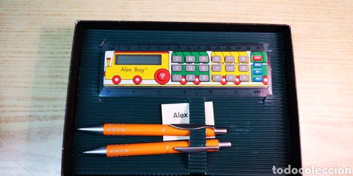 Estilográficas antiguas, bolígrafos y plumas: Portaminas bolígrafo y regla calculadora de Alex Bog a estrenar - Foto 2 - 195366181