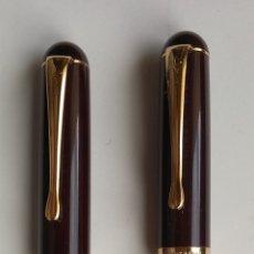 Estilográficas antiguas, bolígrafos y plumas: PLUMA ESTILOGRÁFICA Y BOLÍGRAFO MARCA MARKSMAN. Lote 195657151