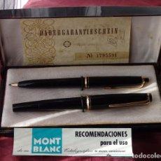 Estilográficas antiguas, bolígrafos y plumas: SET DE PLUMA ESTILOGRAFICA MONTBLANC 22 + PORTAMINAS MONTBLANC PIX 26 NUEVOS A ESTRENAR DE 1960. Lote 195694268