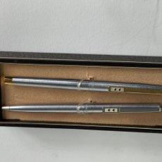 Estilográficas antiguas, bolígrafos y plumas: *PLU-5. CONJUNTO PAPER MATE. BOLIGRAFO Y PLUMA. S.XX.. Lote 195801707