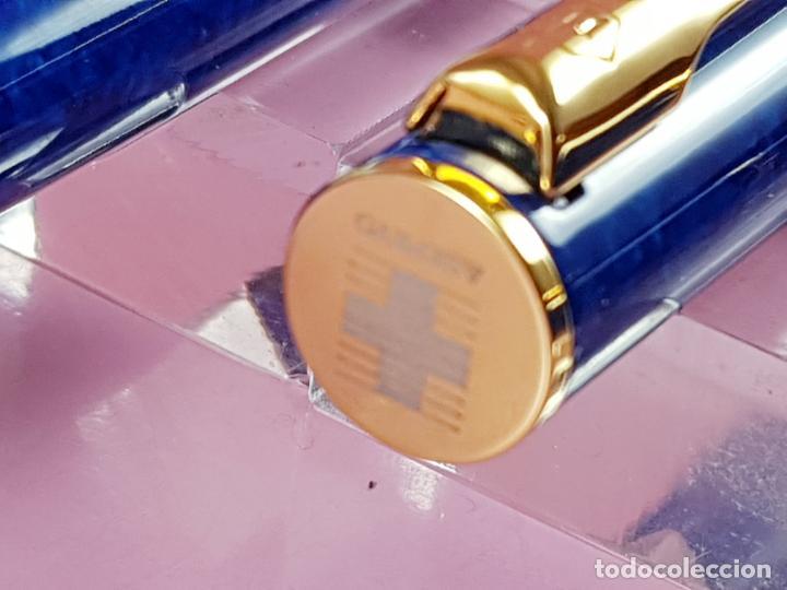 Estilográficas antiguas, bolígrafos y plumas: 10283/juego-waterman apostrophe-pluma e.+bolígrafo-JASPEADOS AZULES-PUBLICIDAD:ASEPEYO-NUEVO-caja-Pa - Foto 6 - 197373772