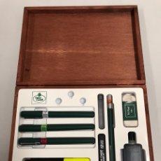 Canetas de tinta permanente antigas, esferográficas e plumas: ESTUCHE PORTAMINAS. Lote 257710990