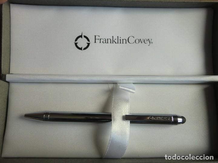 Estilográficas antiguas, bolígrafos y plumas: Bolígrafo con estuche FRANKLIN COVEY chrome. ¡Nuevo a estrenar! - Foto 4 - 198955198
