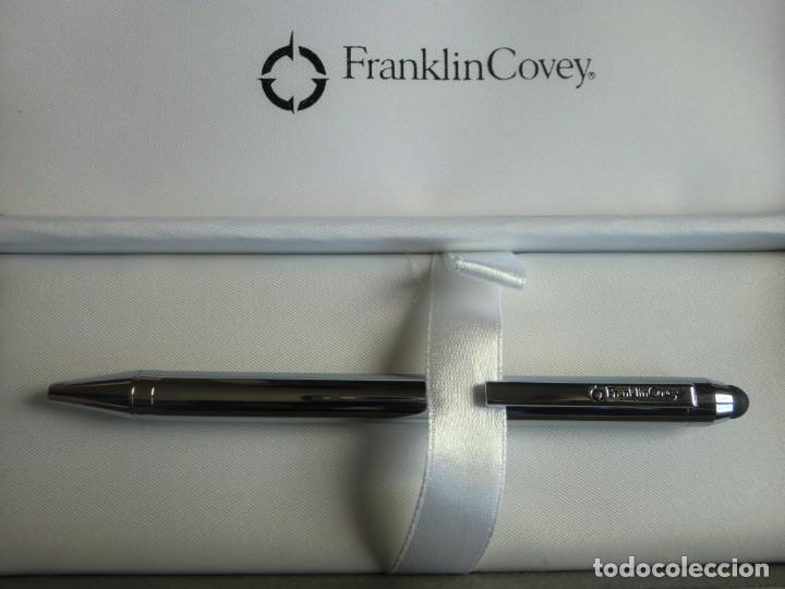 Estilográficas antiguas, bolígrafos y plumas: Bolígrafo con estuche FRANKLIN COVEY chrome. ¡Nuevo a estrenar! - Foto 5 - 198955198