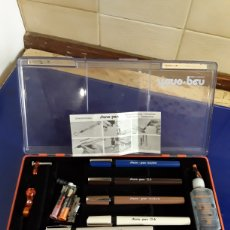Estilográficas antiguas, bolígrafos y plumas: ESTUCHE PROFESIONAL ESTLIGRAFOS RECARGABLES STANO-PEN. Lote 199582661