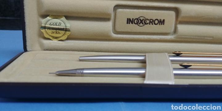 Estilográficas antiguas, bolígrafos y plumas: Estuche nuevo de bolígrafo y portaminas Inoxcrom Gold electroplated 24 kts - Foto 3 - 200280752