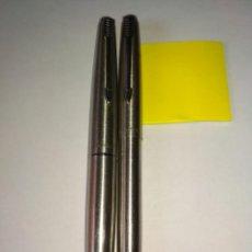 Canetas de tinta permanente antigas, esferográficas e plumas: PARKER ACERO ESTILO GRAFO Y FIBERTIP. Lote 202898696