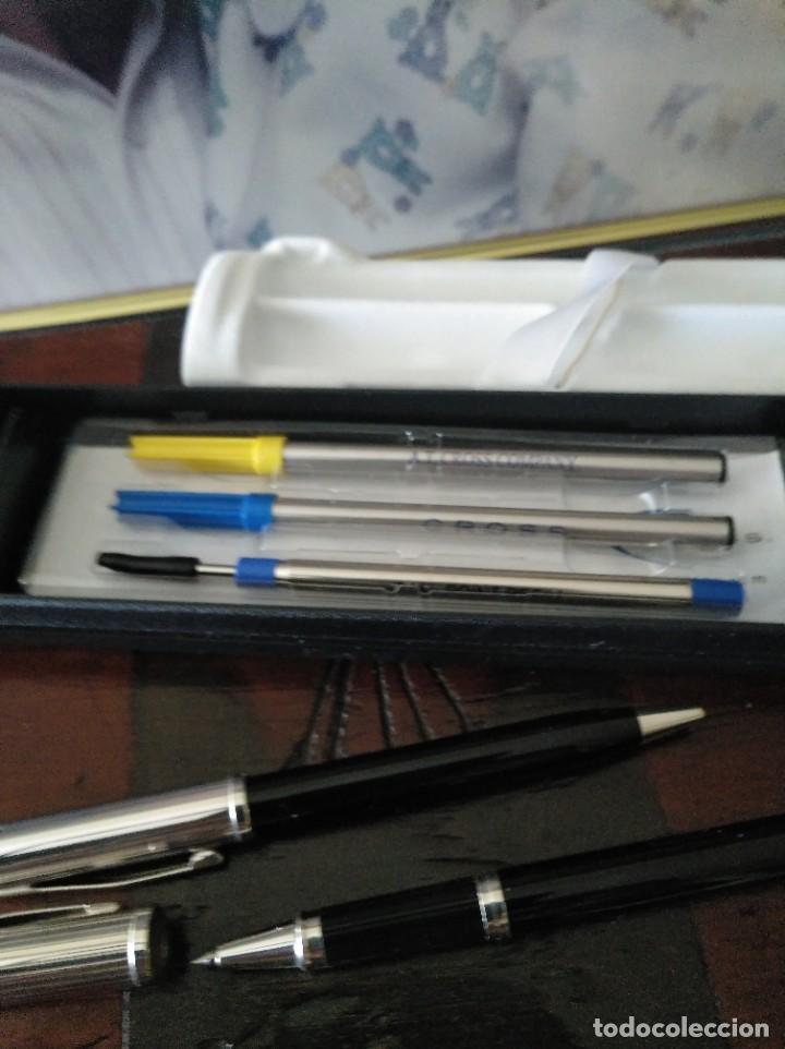 Estilográficas antiguas, bolígrafos y plumas: Conjunto 2 bolígrafos Cross silver NUEVOS - Foto 5 - 219626931