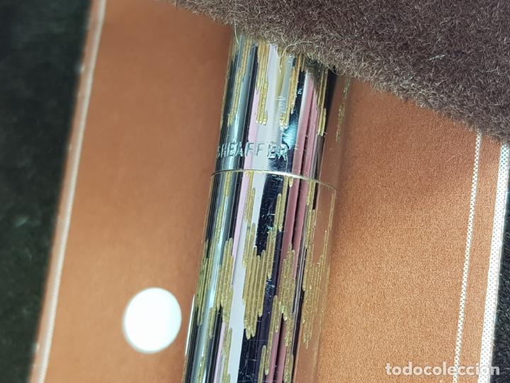 Estilográficas antiguas, bolígrafos y plumas: 10605/JUEGO-SHEAFFER LADY-DESCATALOGADO-CONVERTIDOR-DISEÑO ORO QUEBRADOS-RARO+ESCASO-COMO NUEVO - Foto 10 - 206394665