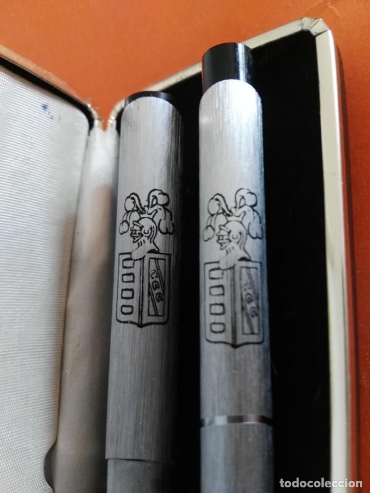 Estilográficas antiguas, bolígrafos y plumas: ESTUCHE CON BOLIGRAFO Y PLUMA INTERPEN AÑOS 70 PARA CAVA FREIXENET - Foto 2 - 207092923