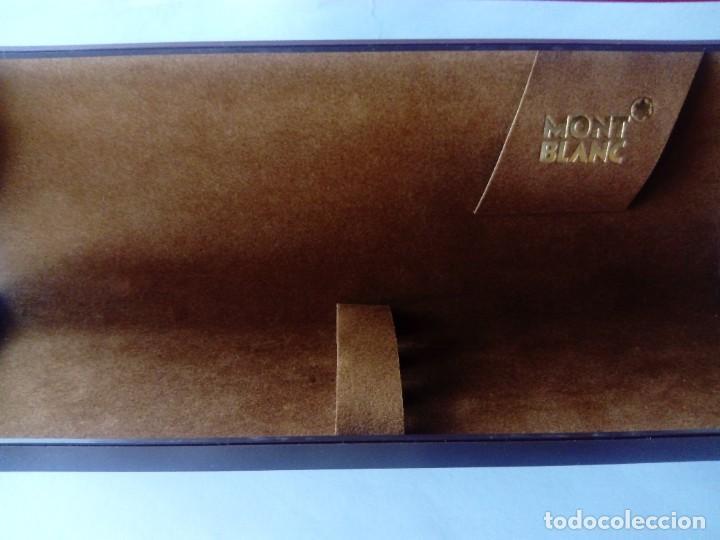 Estilográficas antiguas, bolígrafos y plumas: Caja Montblanc - Foto 10 - 223890686