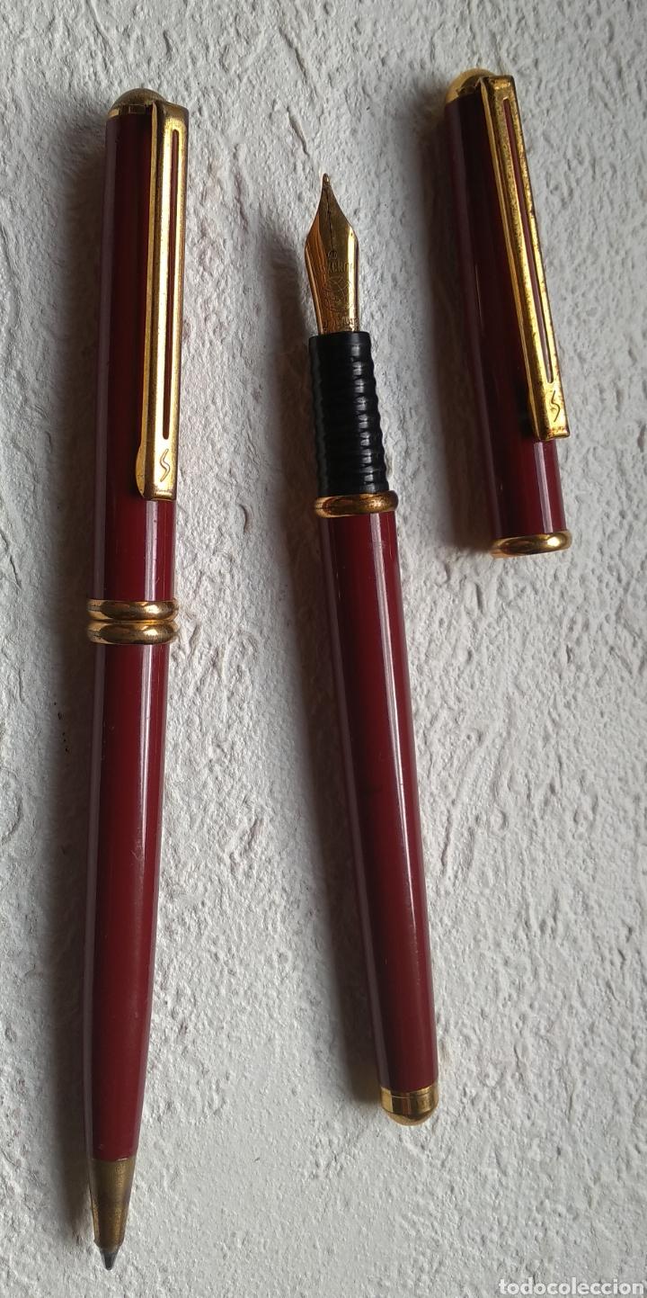 Estilográficas antiguas, bolígrafos y plumas: Pluma y bolígrafo INOXCROM - Foto 3 - 208659291