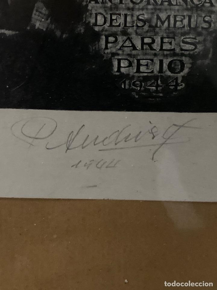Estilográficas antiguas, bolígrafos y plumas: C-991. LITOGRAFIA FIRMADA Y NUMERADA.CANTO. S.XX. - Foto 2 - 208839291