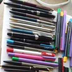 Estilográficas antiguas, bolígrafos y plumas: 50 BOLIGRAFOS Y PLUMAS. INOXCROM, CROMATIC Y OTROS. Lote 209610482