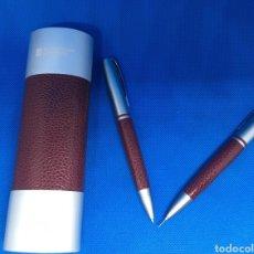Canetas de tinta permanente antigas, esferográficas e plumas: ESTUCHE - BOLIGRAFO - LAPIZ - AYUNTAMIENTO DE LOGROÑO - CAR196. Lote 210974477