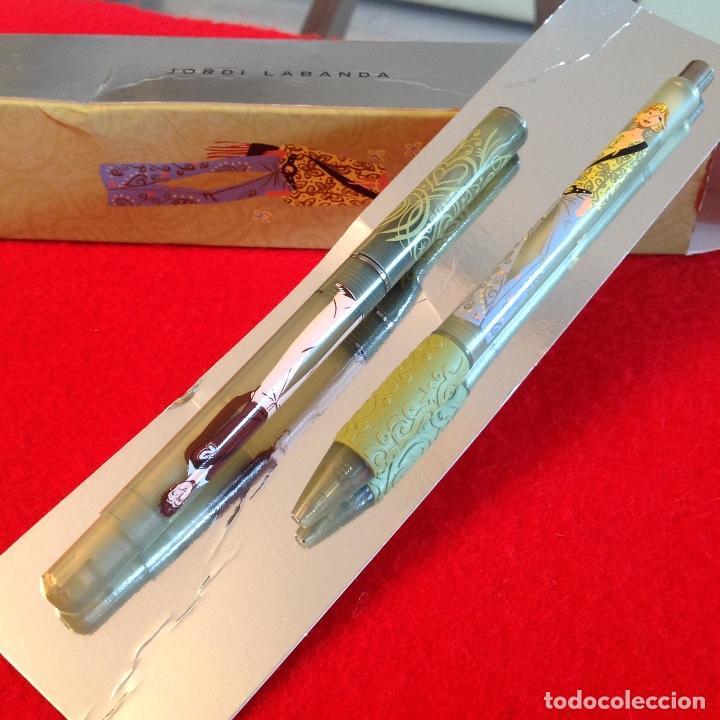 Estilográficas antiguas, bolígrafos y plumas: Juego conjunto Inoxcrom para el diseñador Jordi Labanda en su estuche original. Ver fotos. - Foto 4 - 211688795