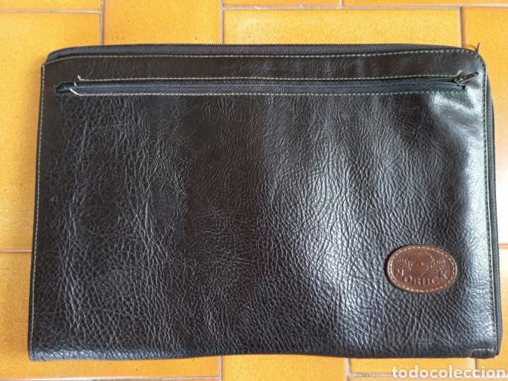 Estilográficas antiguas, bolígrafos y plumas: Portadocumentos nobuck auténtico carpeta maletín archivador porta folios - Foto 2 - 213420376