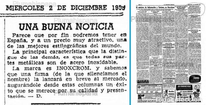 Estilográficas antiguas, bolígrafos y plumas: JUEGO DE BOLÍGRAFO Y PORTAMINAS INOXCROM 2001 - Foto 2 - 213540827