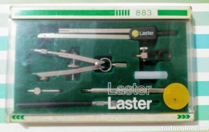 JUEGO DE COMPÁS Y TIRALINEAS LASTER 883 MARCA LASTER (Plumas Estilográficas, Bolígrafos y Plumillas - Juegos y Conjuntos)
