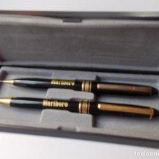 Estilográficas antiguas, bolígrafos y plumas: JUEGO DE BOLIGRAFO Y LÁPIZ MARLBORO AÑOS'90. Lote 216717098