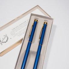 Estilográficas antiguas, bolígrafos y plumas: BOLIGRAFO Y PORTAMINAS GARLAND EN SU ESTUCHE. Lote 217277028