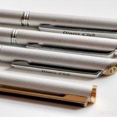Stylos-plume Anciens, stylos-bille et becs de plume: DINERS CLUB 4 BOLIBRAFOS COLECCION. Lote 217653193