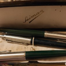 Estilográficas antiguas, bolígrafos y plumas: PLUMA, BOLÍGRAFO ESTUCHE SEIMAN. Lote 218155115